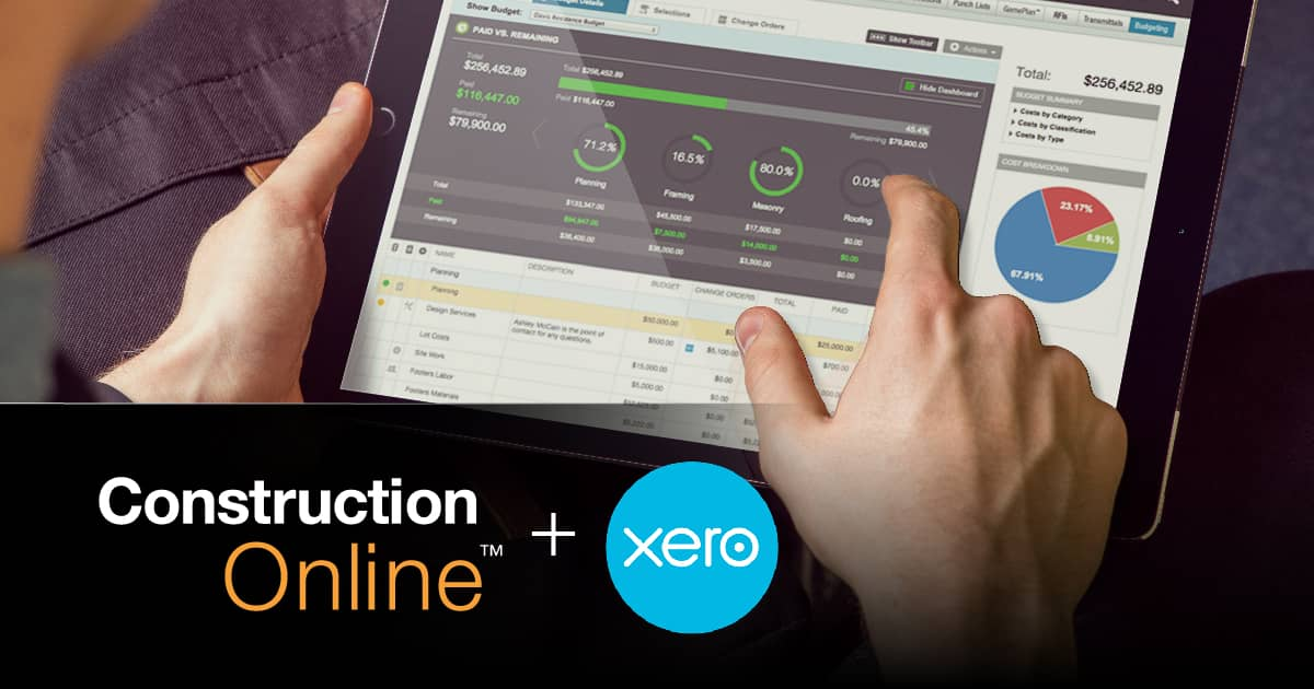 ConstructionOnline Recognized for Xero Integration