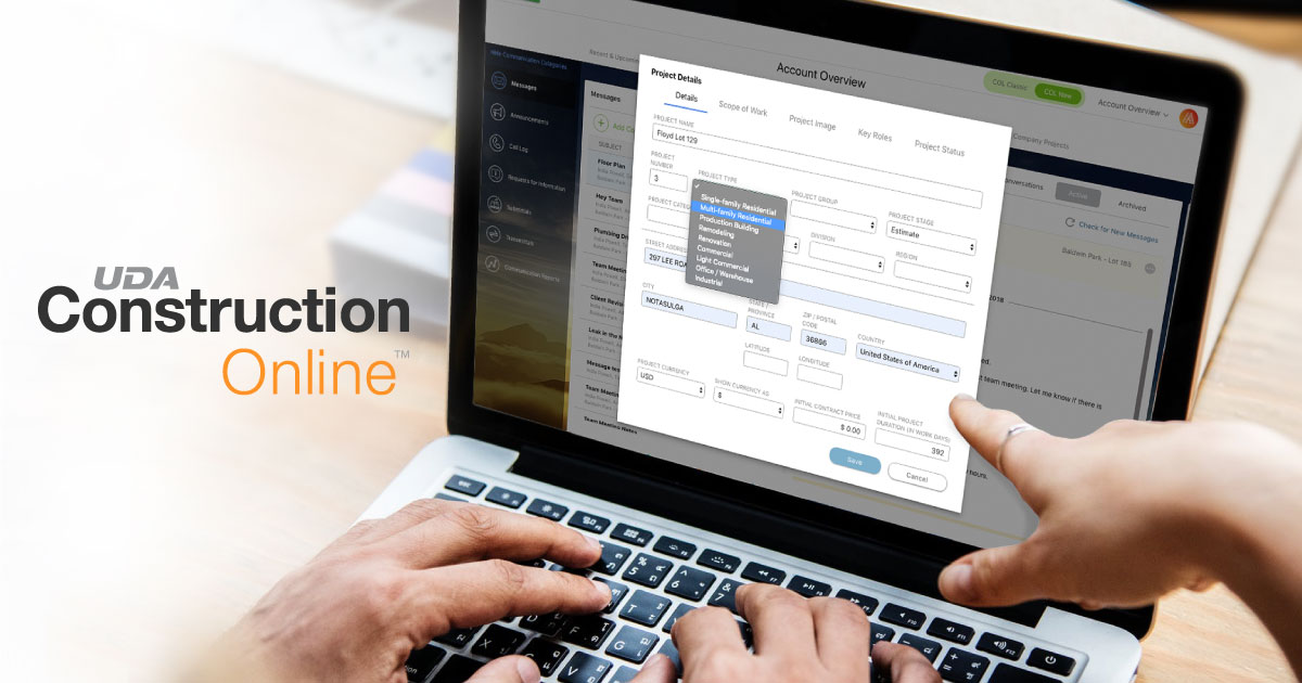 Custom Project Types Now Available in ConstructionOnline 2019