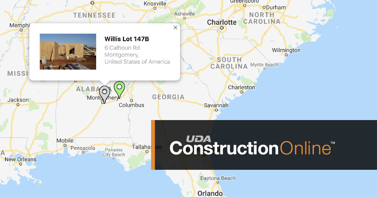 New Project Map View Expands Company Project Management in ConstructionOnline™