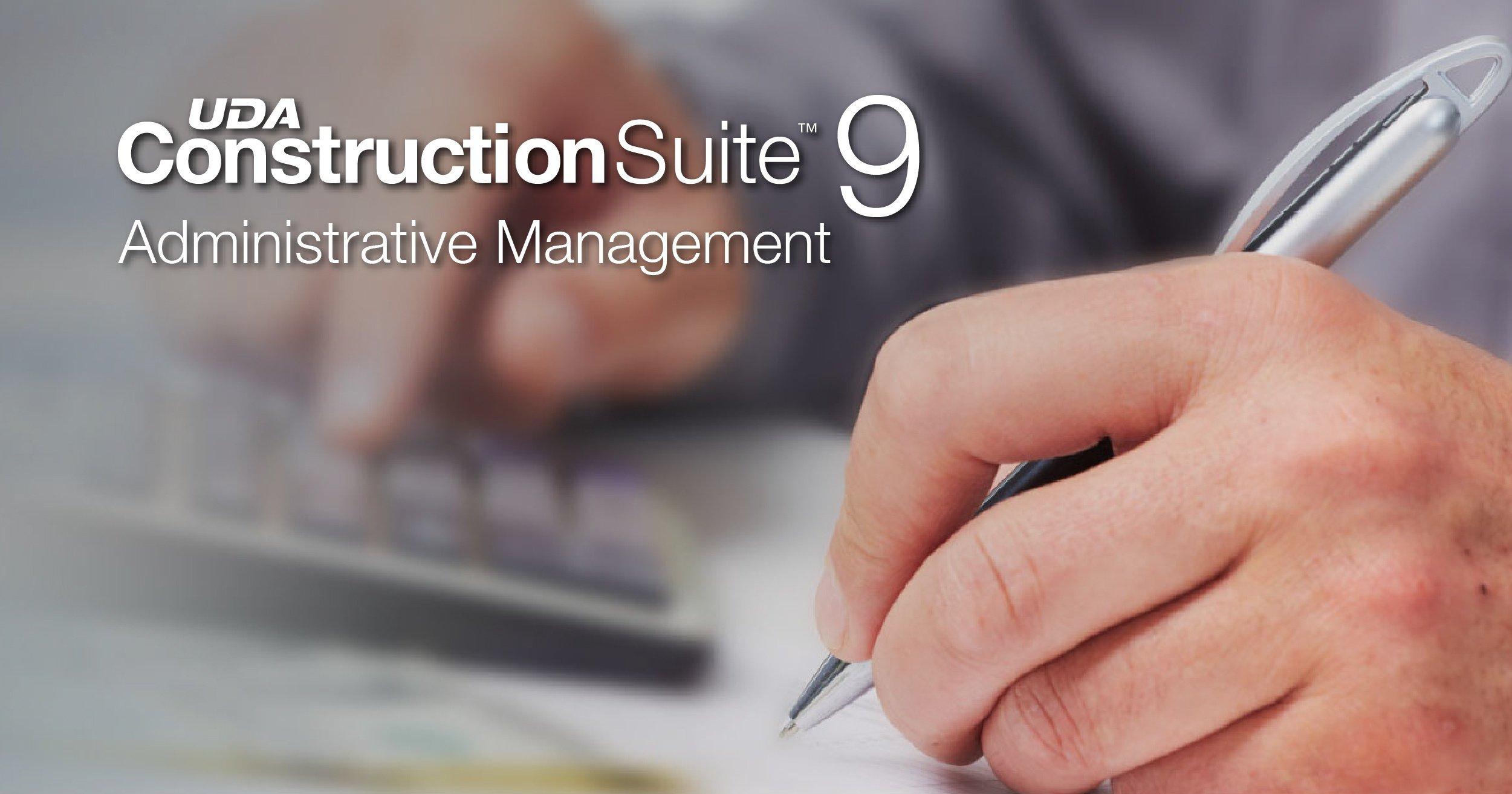 New Administrative Management of Estimates in ConstructionSuite 9