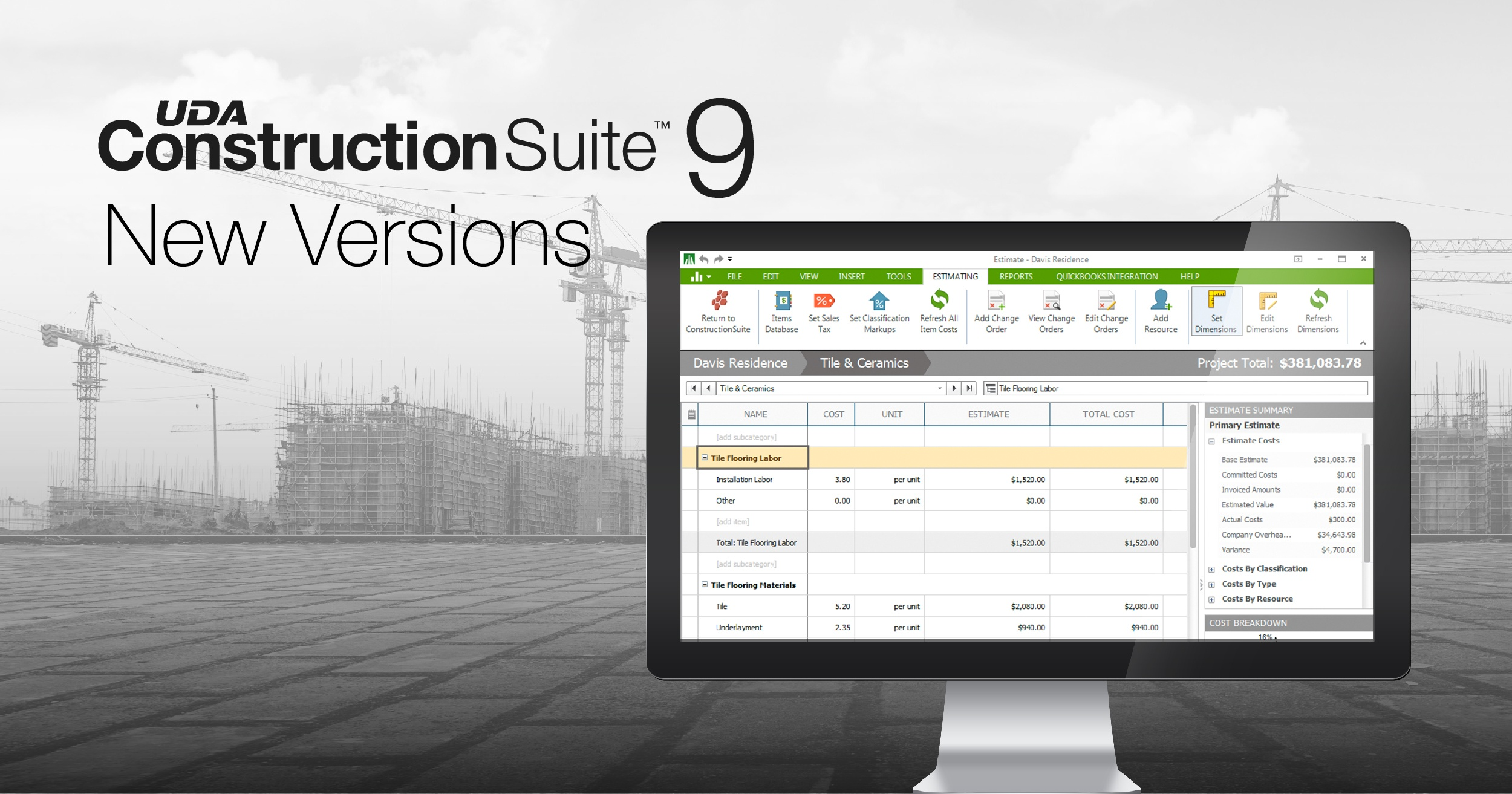 UDA Offers New Specialized Versions of ConstructionSuite