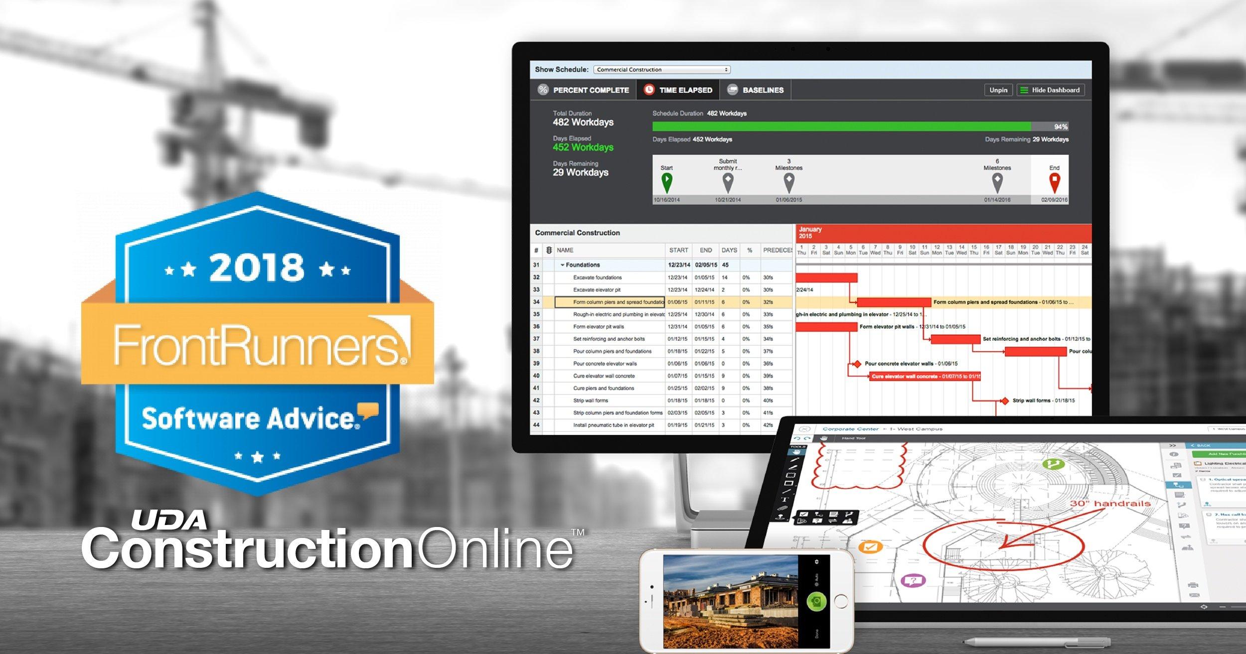 ConstructionOnline Named FrontRunner for Construction Management Software