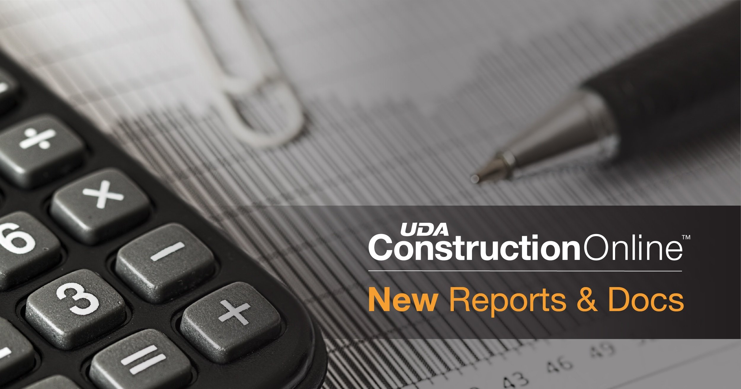 Five New Reports and Documents Added to ConstructionOnline