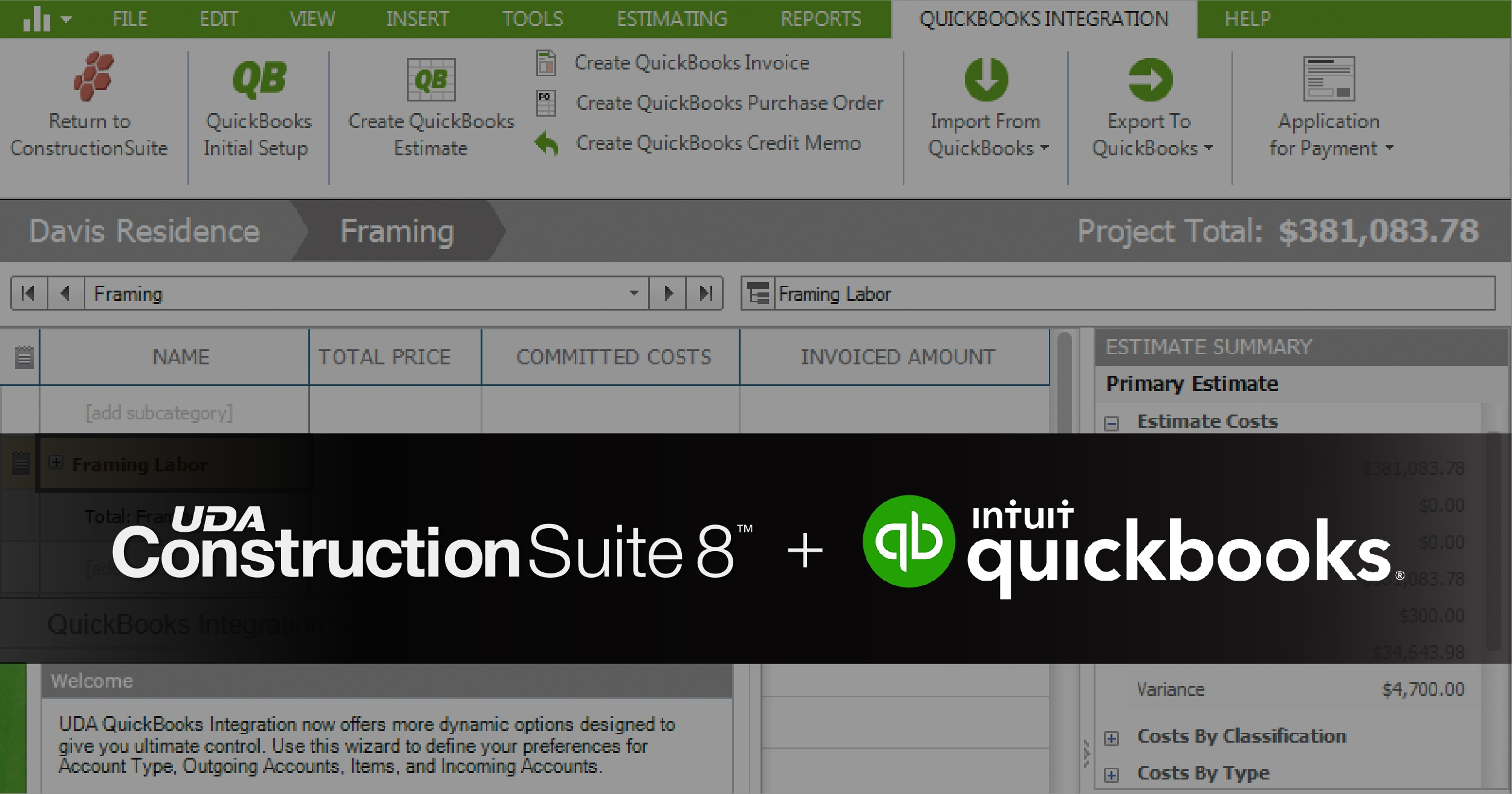 ConstructionSuite 8 + QuickBooks Integration: 2018 Compatibility Update