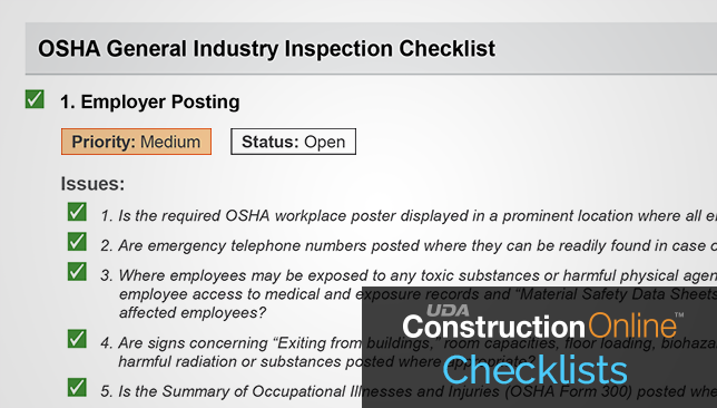 Construction Checklist Report Enhanced to Provide Additional Details