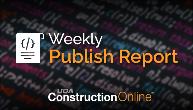 ConstructionOnline Publish Notes for the Week of October 26