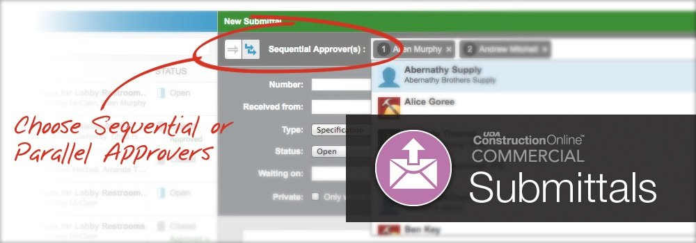 Improved Submittals in ConstructionOnline™