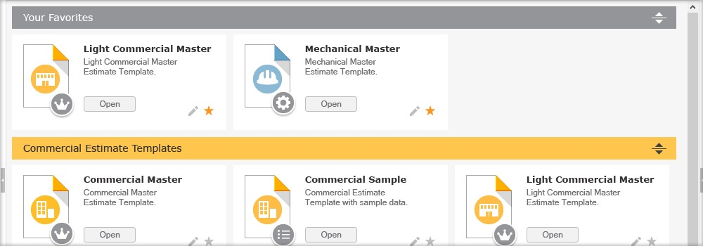 New Template Structure in ConstructionSuite™ 7