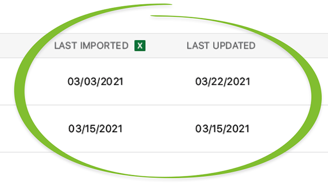 Company Costbooks Now Display Dates of Last Update and/or Import