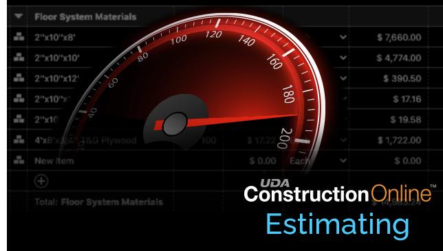 ConstructionOnline Estimating Benefits from Performance Enhancements