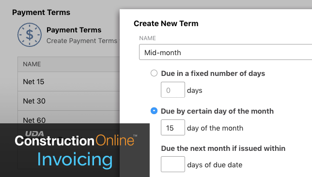 Introducing Custom Terms for Construction Invoices