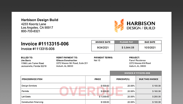 Construction Financial Management Further Streamlined with Powerful Construction Invoicing