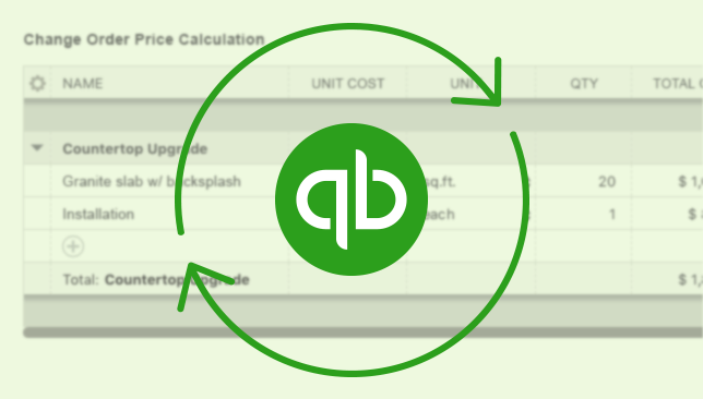 Multi-line Change Orders Now Compatible with QuickBooks Online™