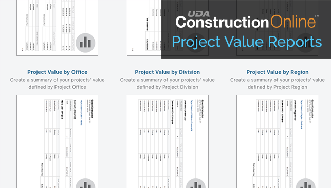 ConstructionOnline Introduces Additional Project Value Reports