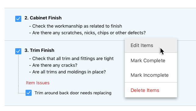 Faster, More Efficient Updates for Construction Checklists & Punch Lists