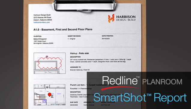 Print & Share Markup with the New Redline SmartShot™ Visual Reference Report
