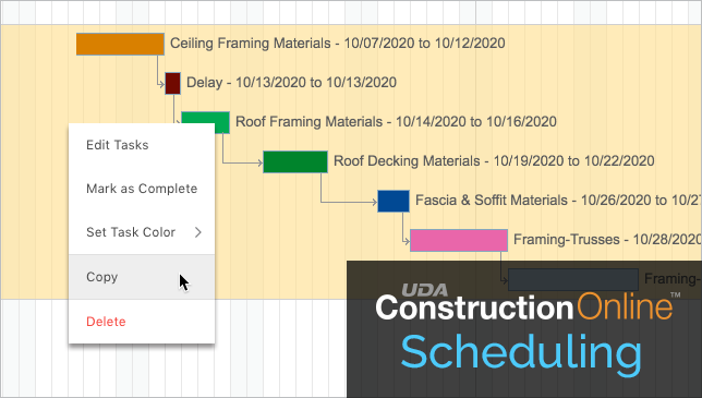ConstructionOnline Scheduling Update Includes Ability to Copy & Paste Tasks