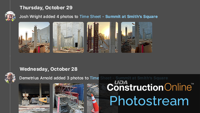 ConstructionOnline Time Tracking adds new Photostream