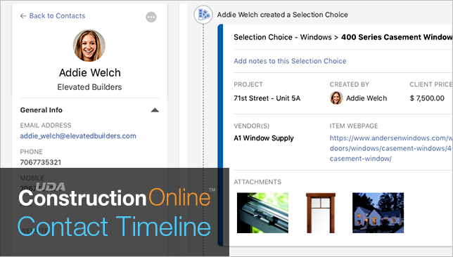Construction Change Orders & Selections Now Available on Contact Timeline